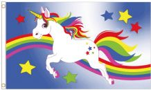 Rainbow Unicorn LGBTQ+ Gay Pride 5' x 3' (150cm x 90cm) Flag